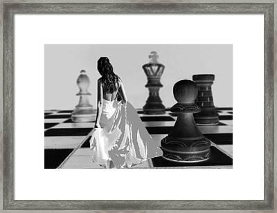 Nobody's Pawn Framed Print