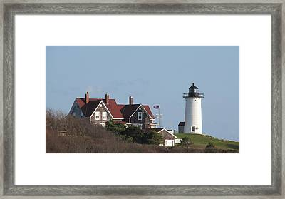 Nobska Lighthouse Cape Cod Framed Print