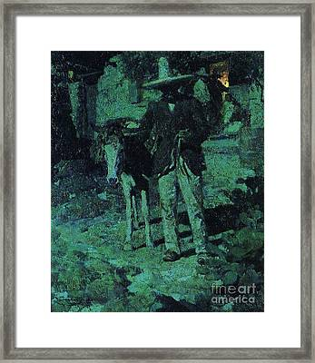 Nocturne Contrast Framed Print by Pg Reproductions