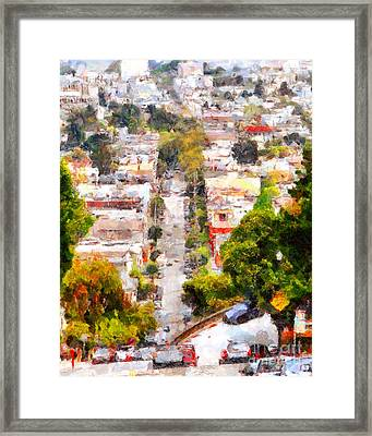 Noe Street In San Francisco . 7d7559 Framed Print by Wingsdomain Art and Photography