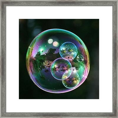 #nofilter #doubletap #bubbles Framed Print