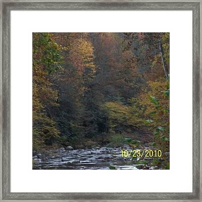 #nofliter #mountains #fall #trees Framed Print