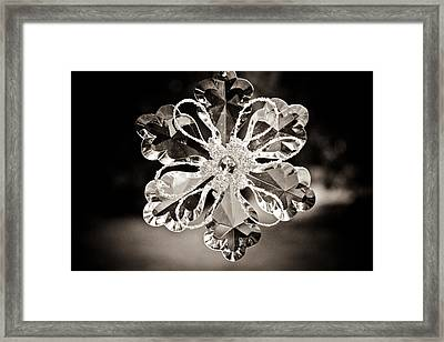 Noir Reflections Framed Print by Sara Frank