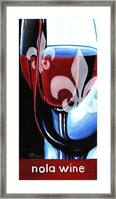 Nola Wine Framed Print by Terry J Marks Sr