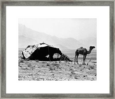 Nomadic Tents Can Be Seen Framed Print by Everett