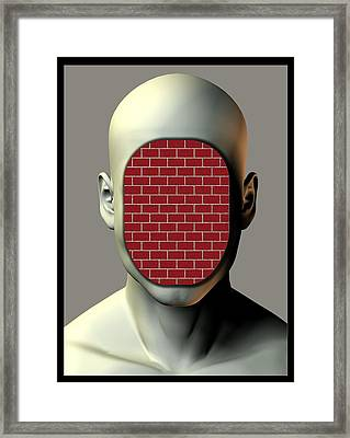 Non-communication, Conceptual Image Framed Print