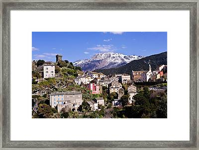 Nonza Village Framed Print by FCremona