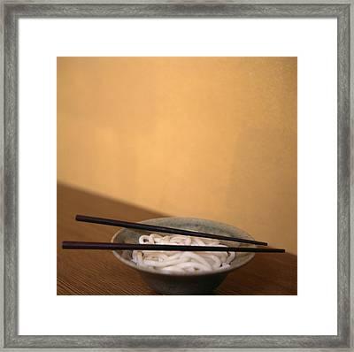 Noodles Framed Print by Cristina Pedrazzini