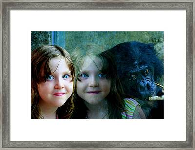 Nora's Reflection Framed Print