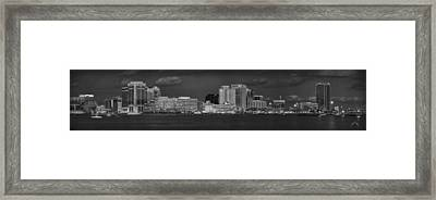 Norfolk Waterfront Bw Framed Print