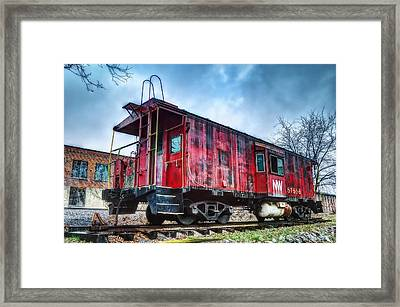 Norfolk Western Caboose Framed Print by Steve Hurt