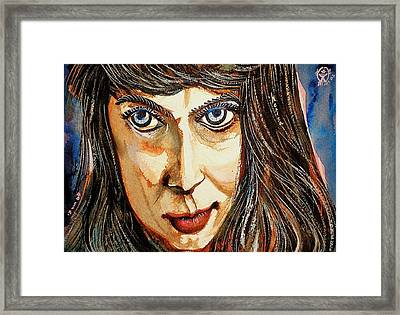 Norica With Crooked Nose Framed Print by Ion vincent DAnu