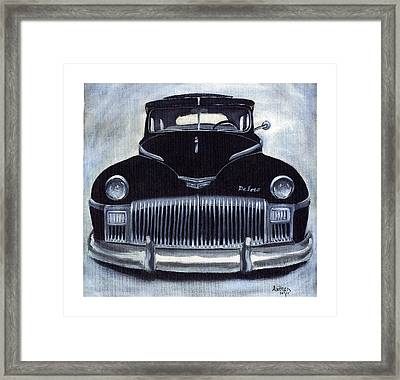 Norma Jean's 1948 De Soto Framed Print by Andrea Camp