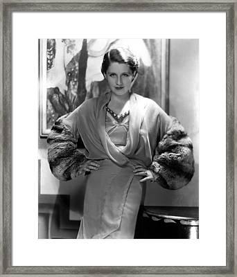 Norma Shearer, 1930s Framed Print by Everett