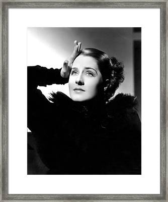 Norma Shearer, Mgm, 1930s Framed Print by Everett