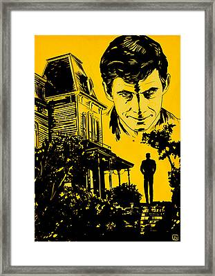 Norman Bates Psycho Framed Print by Giuseppe Cristiano