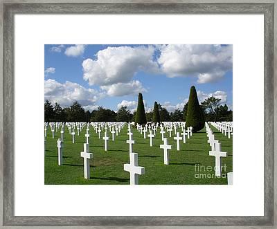 Normandy American Cemetery Framed Print by Carol Groenen