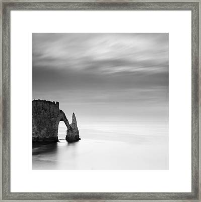 Normandy Etretat Framed Print by Nina Papiorek