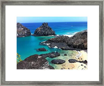 Noronha Framed Print by by Marcos Barbosa