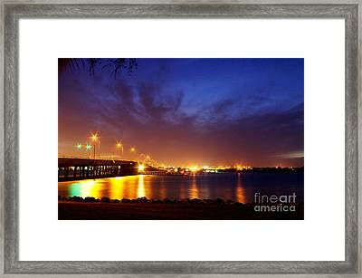 North Bridge At Night Framed Print