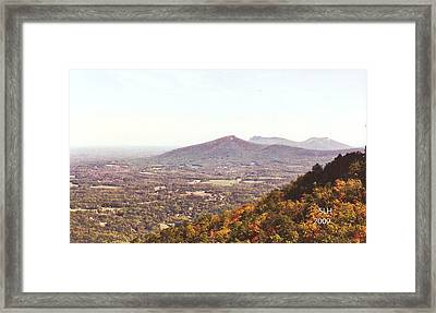 North Caolina Pilot Mountains Framed Print