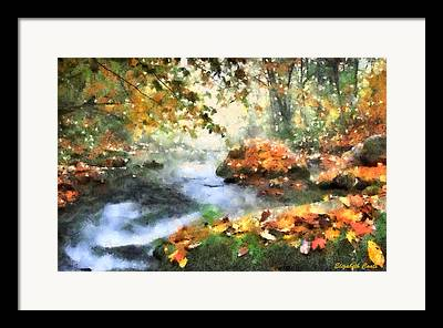 Fallen Leaf On Water Drawings Framed Prints