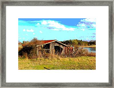 North Carolina Blue And Me Framed Print