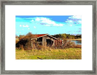 North Carolina Blue And Me Framed Print by Bob Whitt