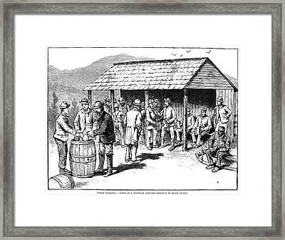 North Carolina: Election Framed Print by Granger