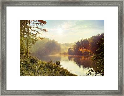 North Carolina Sunset Framed Print by Ray Devlin