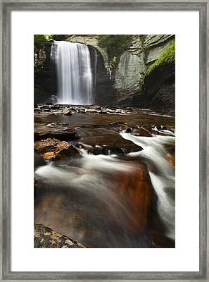 North Carolina Waterfall Framed Print by Andrew Soundarajan