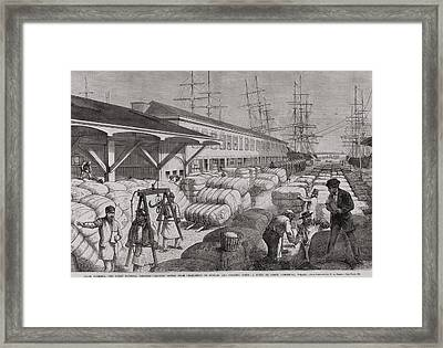 North Commercial Wharf Of Charleston Framed Print by Everett
