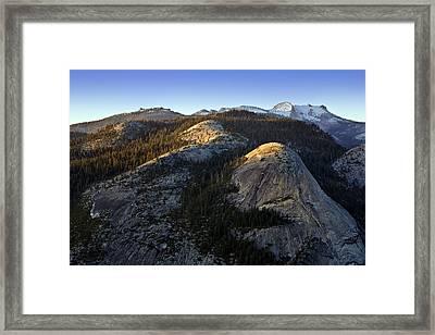 North Dome At Sunset Framed Print by Rick Berk
