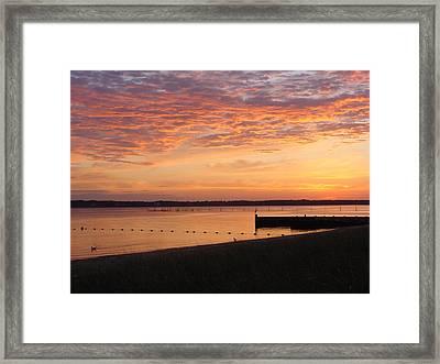 Framed Print featuring the photograph North Fork Li Sunrise by Frank Wickham
