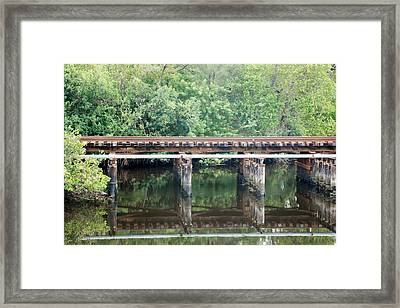 North Fork River Bridge Framed Print by Rob Hans