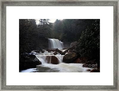 Framed Print featuring the photograph North Forks Waterfalls by Dan Friend