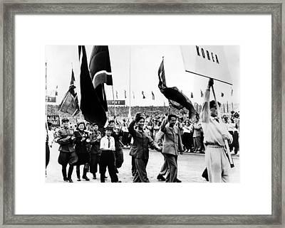 North Korean Delegates To The Communist Framed Print