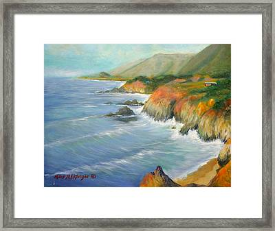 North Of Big Sur Framed Print by Max Mckenzie
