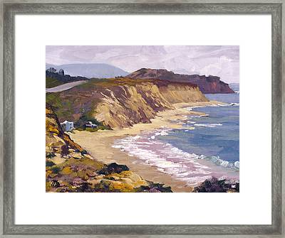 North Of Crystal Cove Framed Print