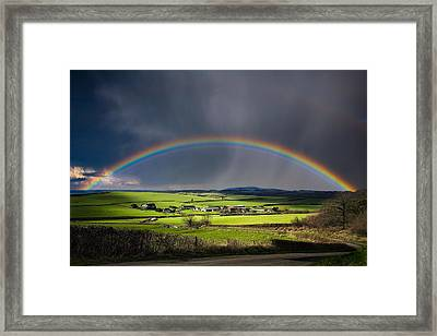 North Poorton Rainbow Framed Print by Kris Dutson