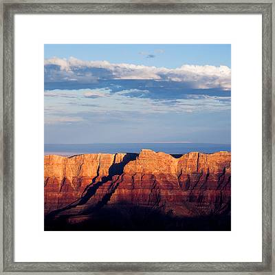 North Rim At Sunset Framed Print by Dave Bowman