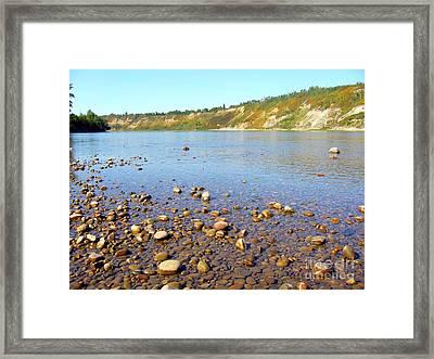 Framed Print featuring the photograph North Saskatchewan River by Jim Sauchyn