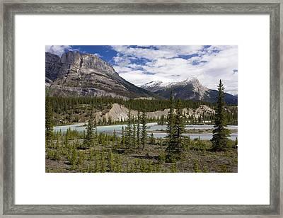 North Saskatchewan River Valley Framed Print by Bob Gibbons