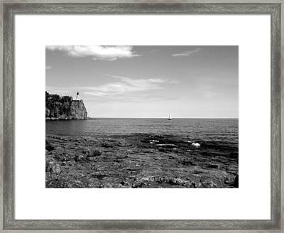 North Shore Landscape Framed Print by Bridget Johnson