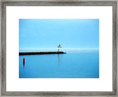 North Shore Lighthouse Framed Print by Bridget Johnson