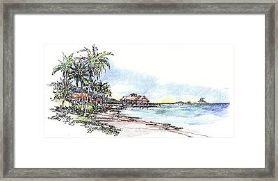 North Sound Beach Framed Print by Andrew Drozdowicz