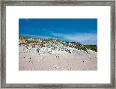 North Topsail Dunes Framed Print by Betsy Knapp