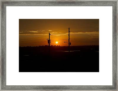 North Topsail Sound Closing Time Framed Print by Betsy Knapp