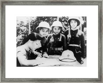 North Vietnamese Woman Joins Peoples Framed Print by Everett
