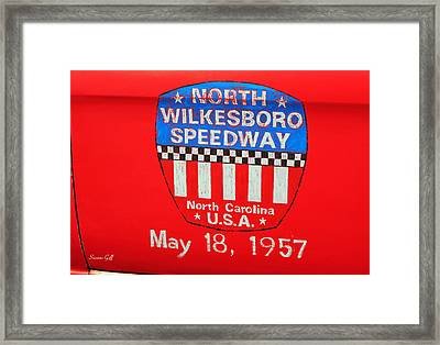 North Wilkesboro Speedway Framed Print by Suzanne Gaff